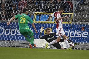 Dario Dumic (Br�ndby IF), Frederik R�nnow (Br�ndby IF), Lukas Spalvis (Aab)