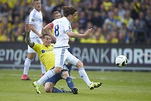 Daniel Agger, anf�rer (Br�ndby IF), Thomas Delaney, anf�rer (FC K�benhavn)