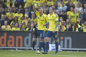 Martin Albrechtsen (Br�ndby IF), Daniel Agger, anf�rer (Br�ndby IF)