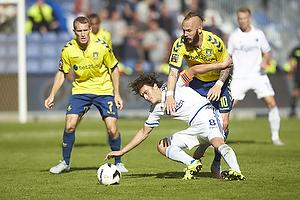 Thomas Delaney, anf�rer (FC K�benhavn), Magnus Eriksson (Br�ndby IF)