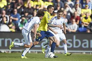 Daniel Agger (Br�ndby IF), Thomas Delaney, anf�rer (FC K�benhavn)