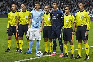 Markus Rosenberg, anf�rer (Malm� FF), Cristiano Ronaldo, anf�rer (Real Madrid CF)