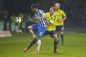 Magnus Lekven (Esbjerg fB), Thomas Kahlenberg, anf�rer (Br�ndby IF)