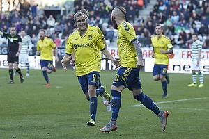 Magnus Eriksson, m�lscorer (Br�ndby IF), Teemu Pukki (Br�ndby IF)