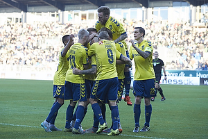 Magnus Eriksson, m�lscorer (Br�ndby IF), Johan Larsson (Br�ndby IF), Teemu Pukki (Br�ndby IF), Daniel Agger, anf�rer (Br�ndby IF)