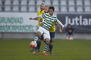 Osama Akharraz (Viborg FF), Magnus Eriksson (Br�ndby IF)