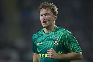 En bl�dende Christian Greko Jakobsen (Br�ndby IF)