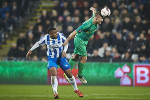 Kenneth Zohore (Ob), Martin Albrechtsen (Br�ndby IF)