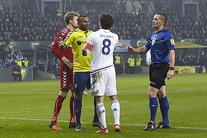 Rodolph William Austin (Br�ndby IF), Thomas Delaney (FC K�benhavn), Mads-Kristoffer Kristoffersen, dommer