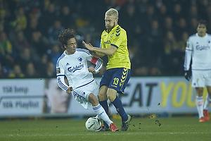 Thomas Delaney, anf�rer (FC K�benhavn), Johan Larsson (Br�ndby IF)