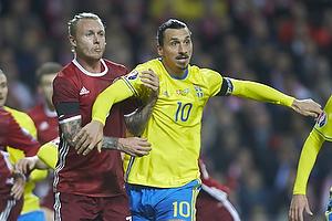 Zlatan Ibrahimovic (Sverige), Simon Kj�r (Danmark)