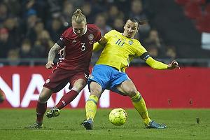 Simon Kj�r (Danmark), Zlatan Ibrahimovic (Sverige)