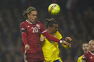Yussuf Poulsen (Danmark), Zlatan Ibrahimovic (Sverige)