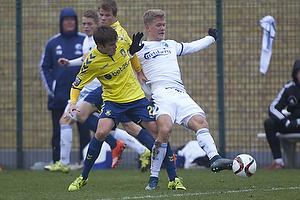 Malthe Johansen (Br�ndby IF), Andreas Cornelius (FC K�benhavn)