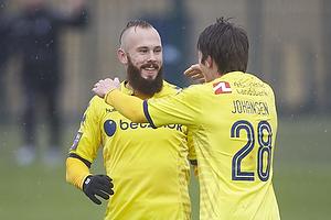 Magnus Eriksson, m�lscorer (Br�ndby IF), Malthe Johansen (Br�ndby IF)