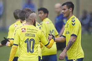 Magnus Eriksson, m�lscorer (Br�ndby IF), Dario Dumic (Br�ndby IF)
