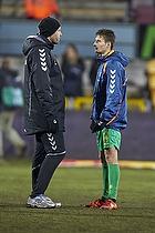 Claus N�rgaard, assistenttr�ner (Br�ndby IF), Elba Rashani (Br�ndby IF)