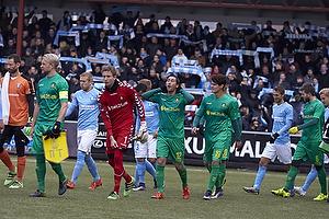 Johan Larsson, anf�rer (Br�ndby IF), Frederik R�nnow (Br�ndby IF), Frederik Holst (Br�ndby IF), Christian N�rgaard (Br�ndby IF)