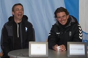 Allan Kuhn, cheftr�ner (Malm� FF), Thomas Frank, cheftr�ner (Br�ndby IF)