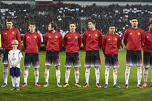 Michael Carrick, anf�rer (Manchester United), Donald Love (Manchester United), Daley Blind (Manchester United), Ander Herrera (Manchester United), Paddy McNair (Manchester United), Jesse Lingard (Manchester United), Chris Smalling (Manchester United)