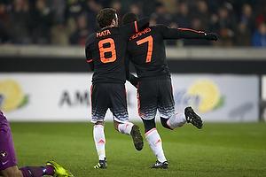 Memphis Depay, m�lscorer (Manchester United), Juan Mata (Manchester United)
