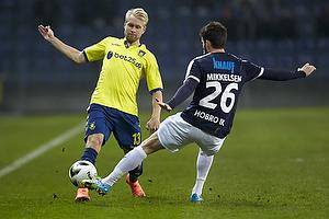 Johan Larsson (Br�ndby IF), Martin Mikkelsen (Hobro IK)