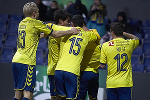 Kamil Wilczek, m�lscorer (Br�ndby IF), Christian N�rgaard (Br�ndby IF), Johan Larsson (Br�ndby IF), David Boysen (Br�ndby IF), Frederik Holst (Br�ndby IF)