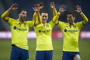 Johan Elmander (Br�ndby IF), Kamil Wilczek (Br�ndby IF), David Boysen (Br�ndby IF)