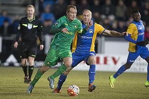 Thomas Kahlenberg, anf�rer (Br�ndby IF), Jens Berthel Askou (Skive IK)