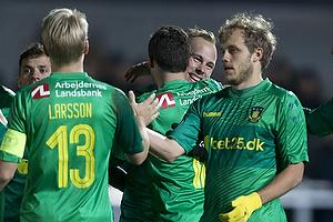 Magnus Eriksson, m�lscorer (Br�ndby IF), Johan Larsson, anf�rer (Br�ndby IF), Teemu Pukki (Br�ndby IF)