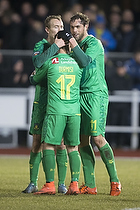 Johan Elmander (Br�ndby IF), Riza Durmisi (Br�ndby IF), Thomas Kahlenberg (Br�ndby IF)