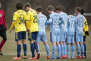 Daniel St�ckler (Br�ndby IF), Christian Greko Jakobsen (Br�ndby IF), Alexander Fischer (Randers FC), Nicolai Poulsen (Randers FC), Mandla Masango (Randers FC)