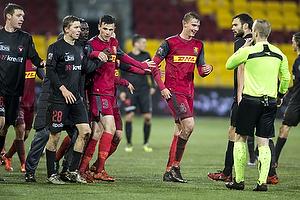 Andr� R�mer (FC Midtjylland), Pascal Gregor (FC Nordsj�lland), Andreas Maxs� (FC Nordsj�lland), Dennis Mogensen, dommer