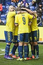 Magnus Eriksson (Br�ndby IF), Teemu Pukki (Br�ndby IF), Christian N�rgaard (Br�ndby IF)