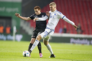 Mustafa Amini (Randers FC), Andreas Cornelius (FC K�benhavn)