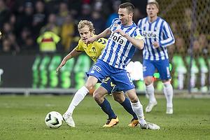 Teemu Pukki (Br�ndby IF), Magnus Lekven, anf�rer (Esbjerg fB)
