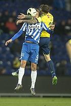 Bj�rn Paulsen (Esbjerg fB), Daniel Agger, anf�rer (Br�ndby IF)