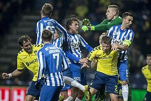 Jesper Lindorff Juelsg�rd (Br�ndby IF), Magnus Lekven, anf�rer (Esbjerg fB)