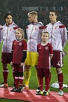 Daniel Agger (Danmark), Kasper Schmeichel (Danmark), Thomas Delaney (Danmark)