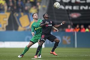 Martin Albrechtsen (Br�ndby IF), Rilwan Hassan (FC Midtjylland)