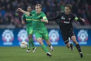 Thomas Kahlenberg, anf�rer (Br�ndby IF), Jakob Poulsen, anf�rer (FC Midtjylland)