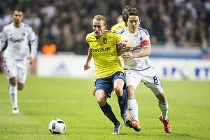 Thomas Kahlenberg, anf�rer (Br�ndby IF), Thomas Delaney, anf�rer (FC K�benhavn)