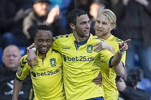 Lebogang Phiri, m�lscorer (Br�ndby IF), David Boysen (Br�ndby IF), Johan Larsson (Br�ndby IF)