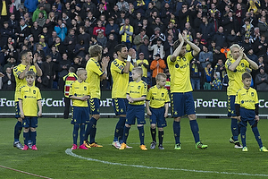 Riza Durmisi (Br�ndby IF), Teemu Pukki (Br�ndby IF), David Boysen (Br�ndby IF), Martin �rnskov (Br�ndby IF), Johan Larsson (Br�ndby IF)