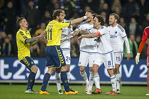 Johan Elmander (Br�ndby IF), Thomas Delaney, anf�rer (FC K�benhavn), Daniel Agger (Br�ndby IF)