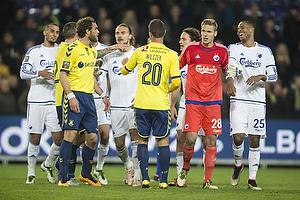 Johan Elmander (Br�ndby IF), Erik Johansson (FC K�benhavn), Kamil Wilczek (Br�ndby IF), Robin Olsen (FC K�benhavn), Mathias Zanka J�rgensen (FC K�benhavn)