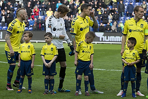 Magnus Eriksson (Br�ndby IF), Frederik R�nnow (Br�ndby IF), Daniel Agger (Br�ndby IF), Thomas Kahlenberg, anf�rer (Br�ndby IF)