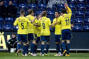 Johan Elmander (Br�ndby IF), David Boysen (Br�ndby IF), Teemu Pukki (Br�ndby IF)
