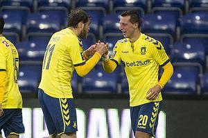Kamil Wilczek, m�lscorer (Br�ndby IF), Johan Elmander (Br�ndby IF)