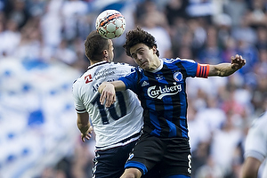 Thomas Delaney, anf�rer (FC K�benhavn), Kim Aabech (Agf)
